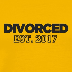 Divorced EST 2017 - Men's Premium T-Shirt