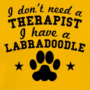 I Don't Need A Therapist I Have A Labradoodle - Men's Premium T-Shirt
