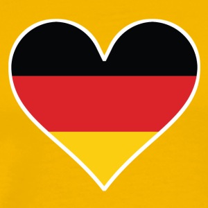 German Flag Heart - Men's Premium T-Shirt