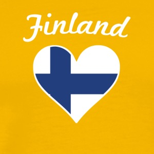 Finland Flag Heart - Men's Premium T-Shirt