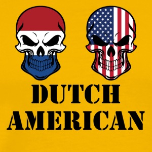 Dutch American Flag Skulls - Men's Premium T-Shirt