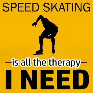 Speed skating is my therapy - Men's Premium T-Shirt
