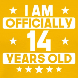 I Am Officially 14 Years Old 14th Birthday - Men's Premium T-Shirt