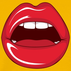 Lips_while_sex - Men's Premium T-Shirt