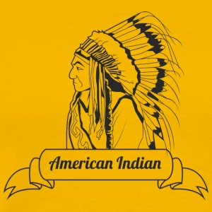 american_indian_black - Men's Premium T-Shirt