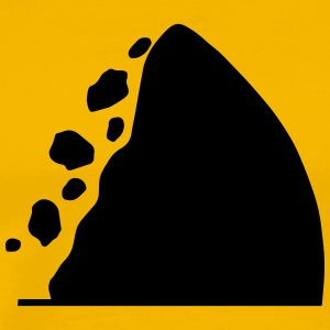 Traffic signs series - Caution falling rocks - Men's Premium T-Shirt