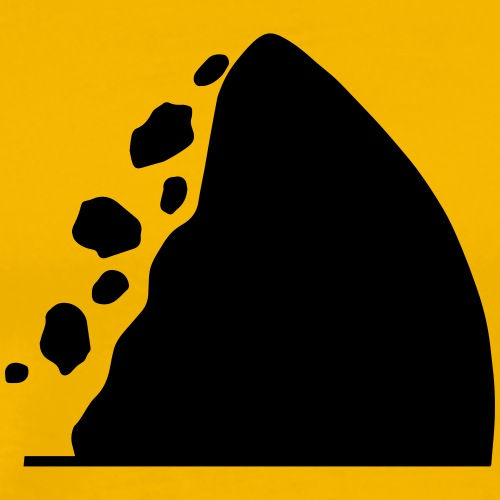 Traffic signs series - Caution falling rocks - Men's Premium T-Shirt