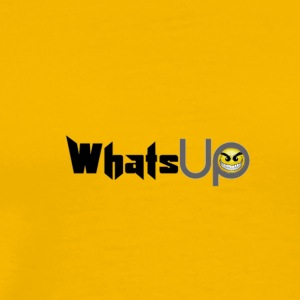WhatsUp desing  angry face  - Men's Premium T-Shirt