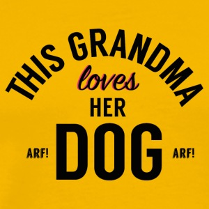 Grandma Loves Her Dog! - Men's Premium T-Shirt