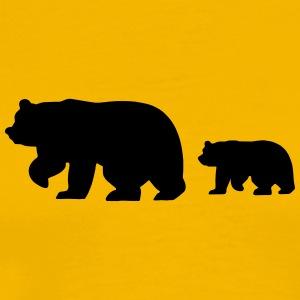 Caution - Bear Crossing - Men's Premium T-Shirt