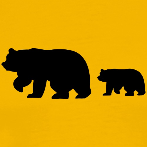 Caution - Bear Crossing - Men's Premium T-Shirt