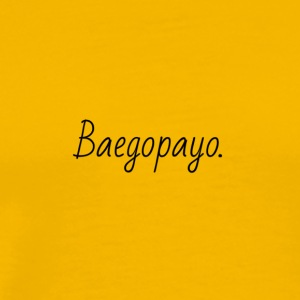 Baegopayo logo / I'm hungry in korean - Men's Premium T-Shirt