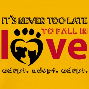 it's never too late for pet adoption - Men's Premium T-Shirt