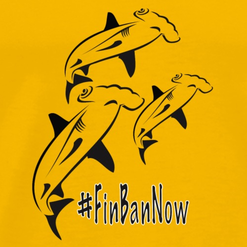 Hammerhead Fin Ban Now 2 - Men's Premium T-Shirt