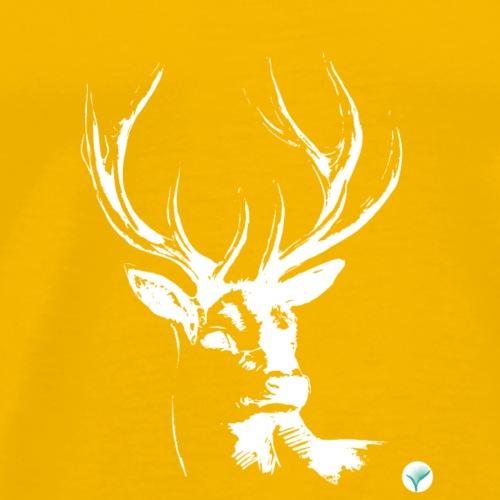 T Shirt 03 Cerf Deer White - Men's Premium T-Shirt