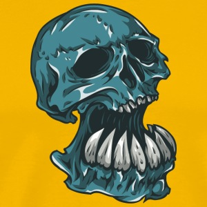 skull_with_hude_theeth - Men's Premium T-Shirt