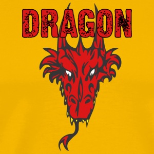 dragon_head_with_horns_color - Men's Premium T-Shirt