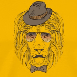 Hipster_lion - Men's Premium T-Shirt