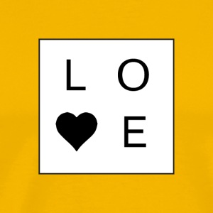 Love - Stacked Box w/ A Heart (Black Letters) - Men's Premium T-Shirt