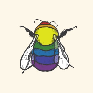 Rainbow Bee - Men's Premium T-Shirt