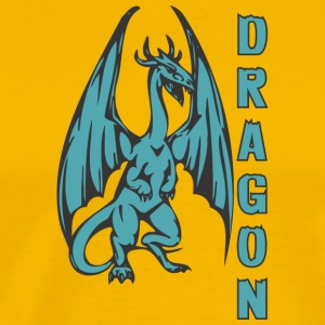 Dragon_with_long_wings_colored - Men's Premium T-Shirt