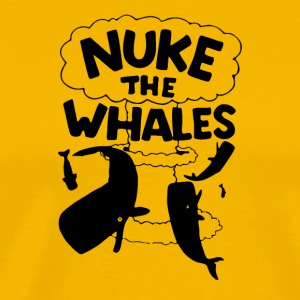 NUKE THE WHALES AWESOME - Men's Premium T-Shirt
