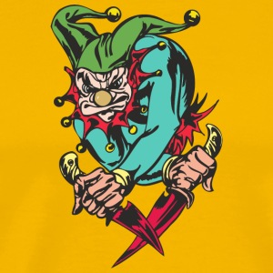 EVIL_CLOWN_3_WITH_knifes_colored - Men's Premium T-Shirt