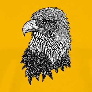 Bald Eagle Zentangle (abstract doodle) - Men's Premium T-Shirt