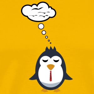 Penguin dreams of flying - Men's Premium T-Shirt