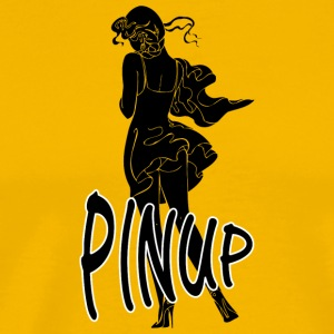 pinup_sexy_girl_black - Men's Premium T-Shirt