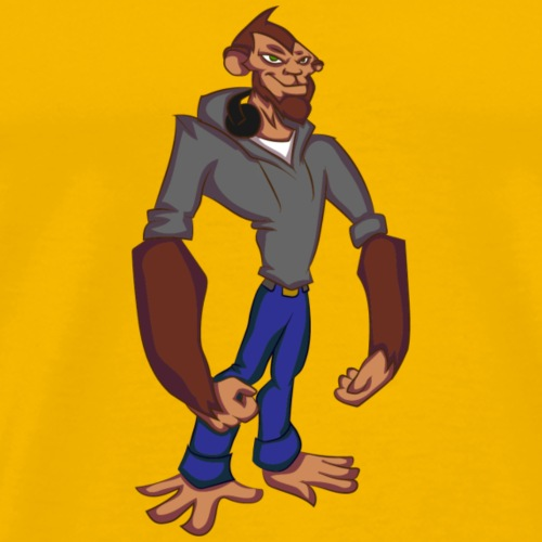 Hipster Monkey - Men's Premium T-Shirt
