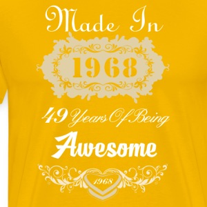 Made in 1968 49 years of being awesome - Men's Premium T-Shirt