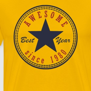 37th Birthday Awesome since T Shirt Made in 1980 - Men's Premium T-Shirt