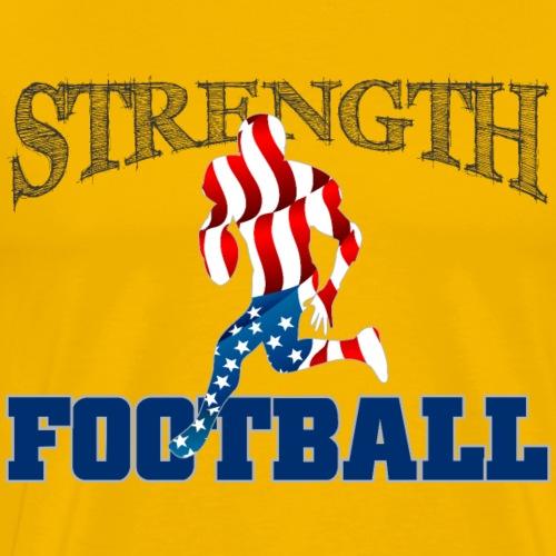 Strength in Football - Men's Premium T-Shirt