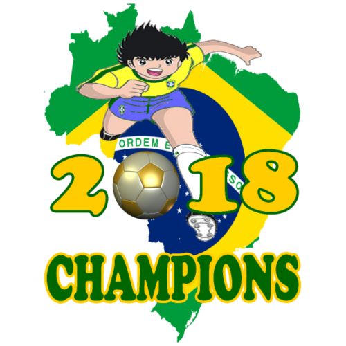 Brasil World Cup Champions 2018 - Men's Premium T-Shirt