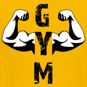 GYM,Weight training, bodybuilding, fitness, - Men's Premium T-Shirt