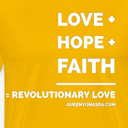 LOVE HOPE FAITH wht - Men's Premium T-Shirt