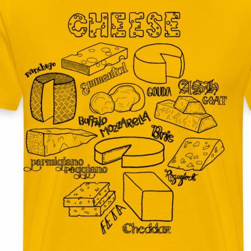 Cheese- Black - Men's Premium T-Shirt