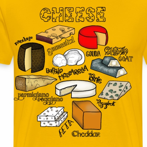 Cheese- Colour - Men's Premium T-Shirt