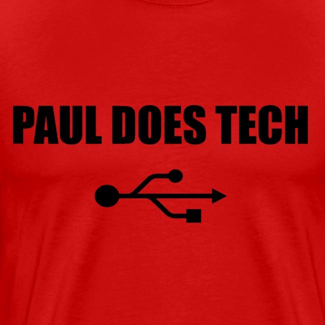Paul Does Tech Logo Black with USB