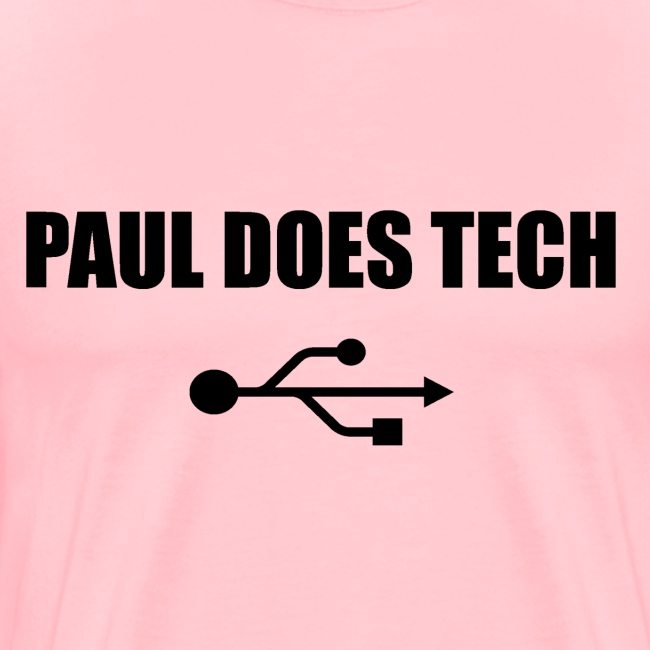 Paul Does Tech Logo Black with USB