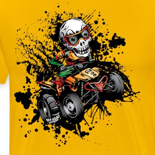 Paddle Quad ATV Skully - Men's Premium T-Shirt