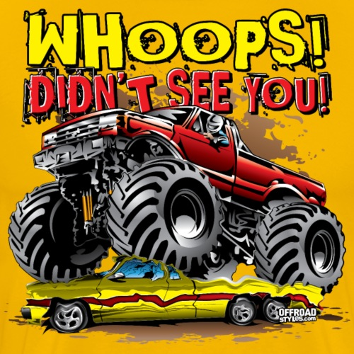 Monster Truck Whoops Red - Men's Premium T-Shirt