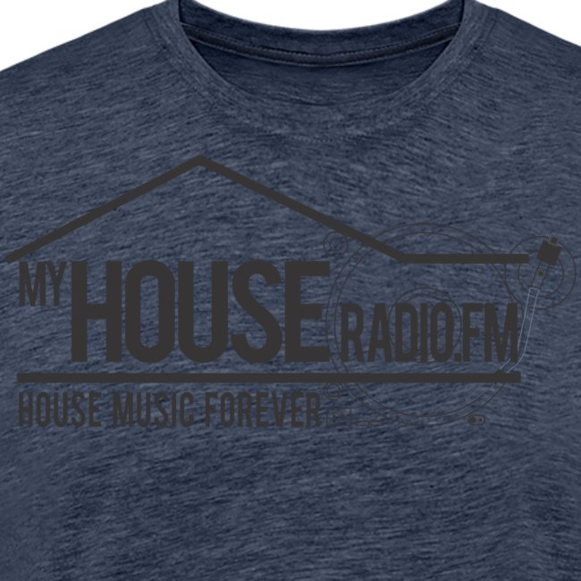 My House Radio Black Logo