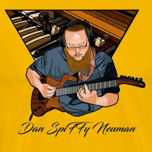 Dan Spiffy Neuman with Parker Fly Guitar - Men's Premium T-Shirt