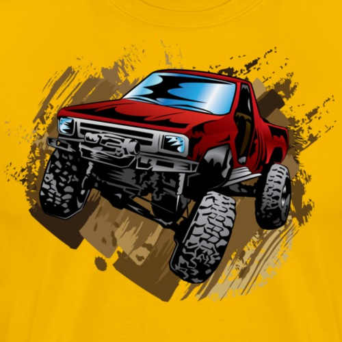 Muddy Red Truck - Men's Premium T-Shirt