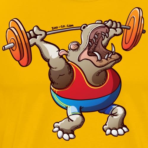 Olympic Weightlifting Hippopotamus - Men's Premium T-Shirt