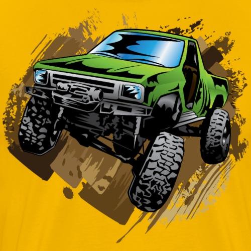 Green Muddy Truck - Men's Premium T-Shirt