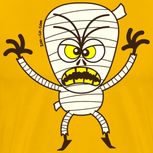 Scary Halloween Mummy - Men's Premium T-Shirt