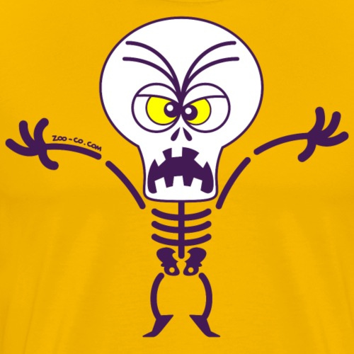 Scary Halloween Skeleton - Men's Premium T-Shirt